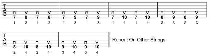 Guitar Warm-Up Exercise 1