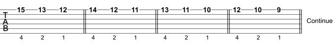 Guitar Scale Technique: Exercise 3