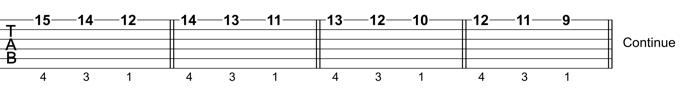 Guitar Scale Technique: Exercise 4