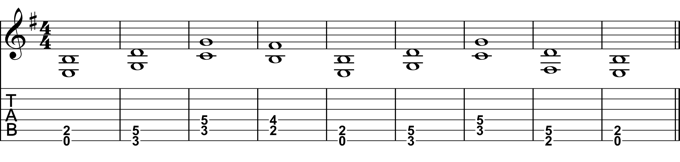 Whole Note Chord Progression