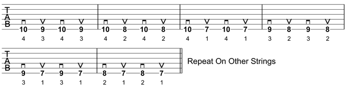 Guitar Warm-Up Exercise 2