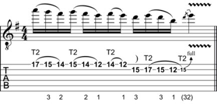 Rock Guitar Lick 4: Scalar Tapping | Craig Bassett