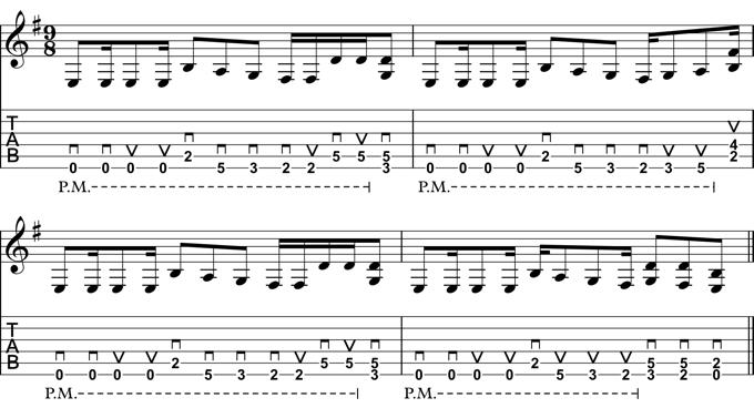9/8 Guitar Riff