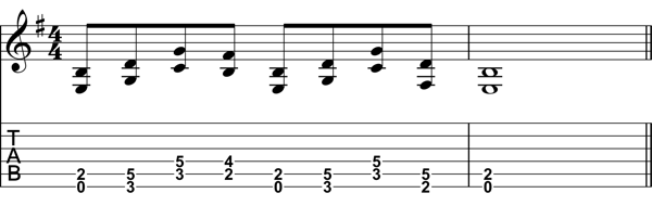 Eighth Note Chord Progression