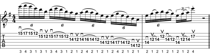 Rock Guitar Lick 16: Advanced Minor Pentatonic Lick