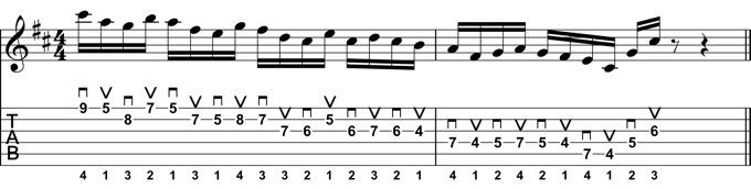 Rock Guitar Lick 24:Mixolydian Alternate Picking Lick #2