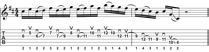 Rock Guitar Lick 25:Mixolydian Lick Using Sliding Thirds