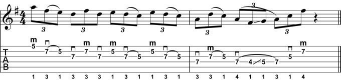 Rock Guitar Lick 28: Dorian Hybrid-Picking Lick 2