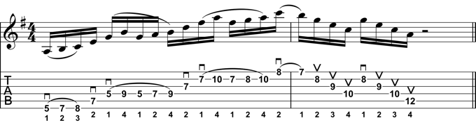 Rock Guitar Lick 30: Dorian Sweep Picking Lick 2