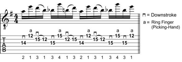 Rock Guitar Lick 7: Angular Hybrid-Picking Lick