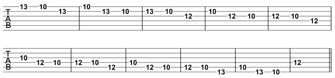 Minor Pentatonic Melodic Pattern Exercise 1