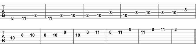 Minor Pentatonic Melodic Pattern Exercise 2