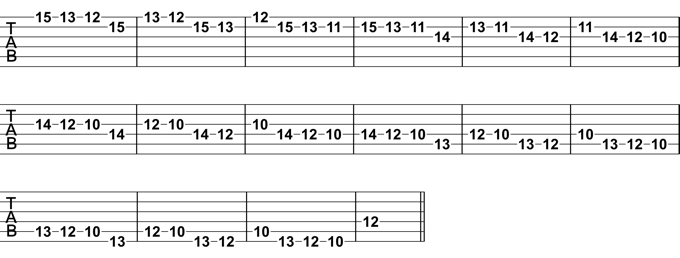 Natural Minor Melodic Pattern 1